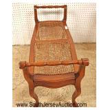 Lot 542 Country French style cane bench