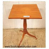 Lot 545 SOLID maple spider leg candle stand