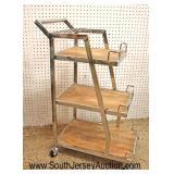Lot 549 Modern design industrial style 3 tier rolling liquor cart