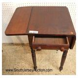 Lot 551 ANTIQUE 2 drawer mahogany drop side work table