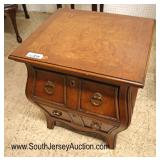 Lot 552 QUALITY in the manner of John Widdicomb Bombay 2 drawer burl walnut stand