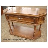 Lot 570 Thomasville Furniture country oak flip top server