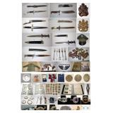 Several Estates Liquidation: coins military stamps jewelry lighting artwork collectibles box lots smalls & more