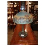 """Antique Bradley Hubbart reverse painted table lamp approx. 14"""" diameter x 21"""" h  South Jersey Auction August 1st 12pm"""