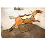 Semi Antique merry go ground horse by Williams American Amusement Device Company, horse is from Sandusky, Ohio amusement park, in fair shape, paint appears to be from period and wear with paperwork...
