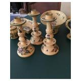 large lot of Italian pottery dinnerware