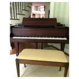 Henry F Miller rosewood baby grand piano