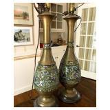 good pair of cloissone lamps