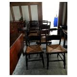"""Set of 8 """"Hitchcock"""" chairs"""