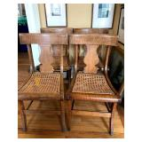 set curly maple chairs