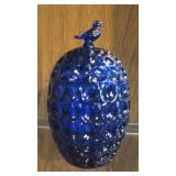 Cobalt Blue Glass Candy Dish