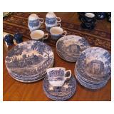 Blue and White Dish Set