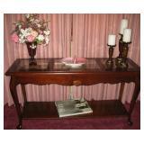 Nice Dark Wood Sofa Table