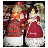 Vintage Music Box Dolls