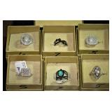 Gemstone and Bella Luce Rings set in Silver