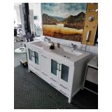 ONLINE AUCTION ONLY: Building Materials & Supplies Featuring High End Complete Bathroom Vanities, Fa