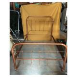 Antique metal bed. Painted Bronze.Full/double.