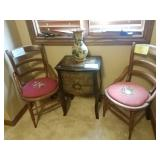 Chairs and decorative table