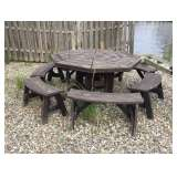 Nicely Weathered Pinic Table Set