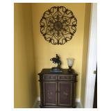 "Small Decorative Cabinet, 32.5"" H x 30"" W x 14"" D"
