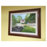 """Signed Original Painting by Local Artist """"Michael"""", frame measures 31"""" wide x 24"""" high"""