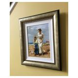 """Pino Daeni """"By the Sea"""" signed & numbered w/ COA, frame measures 25"""" H x 21"""" W"""