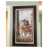 """Original Signed Painting by W. Greene, frame measures 18"""" wide x 30"""" high"""