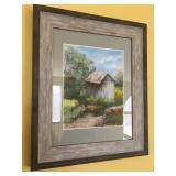 "Signed Original Pastel ""Toms River"" by Diane Schultz, frame measures 18"" high x 15"" wide"