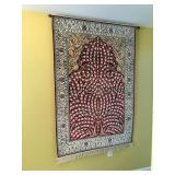 """Rug Hung on Wall, 48"""" wide x 72"""" long plus 3"""" fringe"""