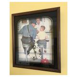"""1979 Norman Rockwell Clock, 13"""" wide x 15"""" high"""