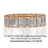 Emerald Cut Eternity Diamond Ring