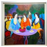 Original Itzchak Tarkay Oil Painting