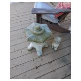 Outdoor stone statues