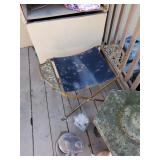 Outdoor stool plant holder stand