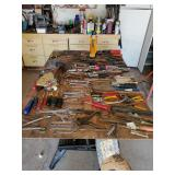 Hand tools, skrewdriver, wrenches, hammers, pliers, more