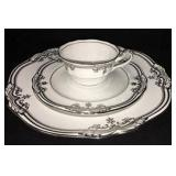 Spode Bone China Dinnerware | Stafford Platinum Pattern | 34 Pieces Total |