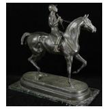 19th Century Signed French Equestrian Bronze Sculpture by important and well listed French Sculptor