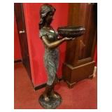 Magnificent 4 Foot Tall Bronze Sculpture | Beautifully Patinated