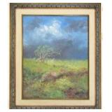 Framed Impressionistic Landscape