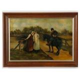 Large English Oil Painting