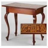 Marquetry Inlaid Queen Anne style Salon Table
