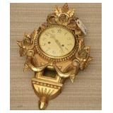 Antique Gold Gilded Gesso Wood Wall Clock