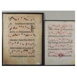 Antique music chants on vellum