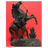 19th Century Statue – Bronze Trojan Breaking Wild Horse