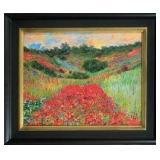 Stunning Hand Signed Claude Monet Giclee on Canvas