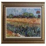 Painting of a field in Spring in the style of impressionism