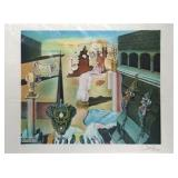 "A limited edition Salvador Dali (Spanish, 1904-1989) color lithograph by Dali entitled ""L"