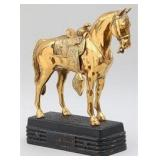 Abbotwares gilt metal horse