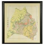 Antique Map of Davidson County, Tennessee | United States Bureau of Soils, Soil Map, Tennessee, Davi