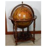 Antique globe with bar located inside